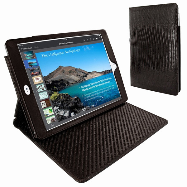 Piel Frama 694 Brown Lizard Cinema Magnetic Leather Case for Apple iPad Air 2