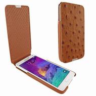 Piel Frama 699 iMagnum Tan Ostrich Leather Case for Samsung Galaxy Note 4