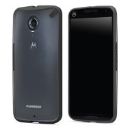 PureGear Clear / Black Slim Shell Case for Google Nexus 6