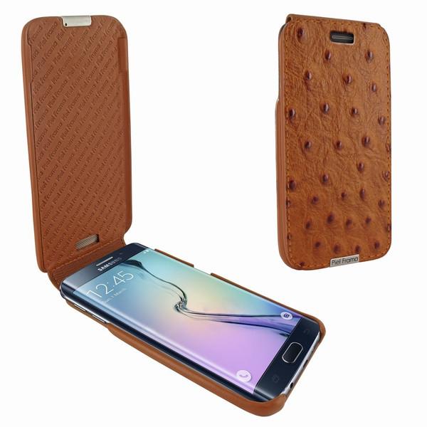 Piel Frama 714 Tan Ostrich iMagnum Leather Case for Samsung Galaxy S6 Edge