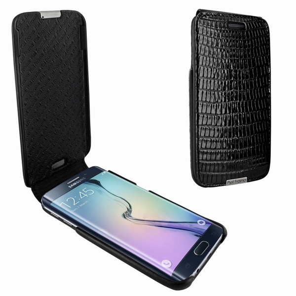 Piel Frama 714 Black Lizard iMagnum Leather Case for Samsung Galaxy S6 Edge