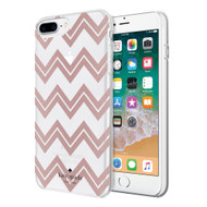 Apple iPhone 6 Plus / iPhone 6s Plus / iPhone 7 Plus / iPhone 8 Plus Incipio Kate Spade New York Protective Hardshell Case - Chevron Rose Gold Glitter / Clear