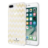 Apple iPhone 7 Plus / iPhone 8 Plus Incipio Kate Spade New York Hybrid Hardshell Case - Chevron Gold Foil / Clear