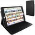 Piel Frama 722 Black Ostrich Cinema Magnetic Leather Case for Apple iPad mini 4