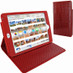 Piel Frama 722 Red Wild Crocodile Cinema Magnetic Leather Case for Apple iPad mini 4
