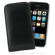 PDair Black Leather Vertical Pouch for Apple iPhone 3G / 3GS