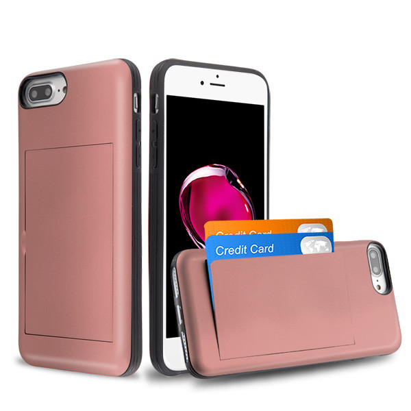 iPhone 7 Plus Rose Gold/Black Stash Hybrid Protector Cover (with Package)