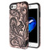 iPhone 7 Phoenix Flower (2D Rose Gold)/Black Fuse Hybrid Protector Cover (with Package)