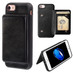 iPhone 7 Black Flip Wallet Executive Protector Cover (TPU Case with Snap Fasteners)(with Package)