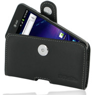PDair Black Leather Horizontal Pouch for Samsung Galaxy S II Skyrocket (AT&T)