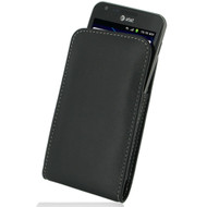 PDair Black Leather Vertical Pouch for Samsung Galaxy S II Skyrocket (AT&T)