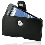 PDair Black Leather Horizontal Pouch for Samsung Galaxy S II (T-Mobile)
