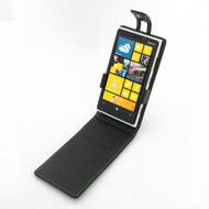 PDair Black Leather FlipTop-Style Case for Nokia Lumia 920