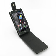 PDair Black Leather FlipTop-Style Case for Motorola Droid RAZR MAXX HD