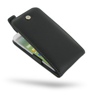 PDair Black Leather FlipTop-Style Case for Samsung Galaxy S4
