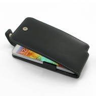 PDair Black Leather FlipTop-Style Case for Samsung Galaxy Note 3