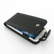 PDair Black Leather Flip-Style Case for Motorola Moto X