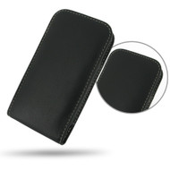 PDair Black Leather Vertical Pouch for Motorola Moto X