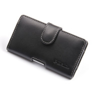 PDair Black Leather Horizontal Pouch for Nokia Lumia 925