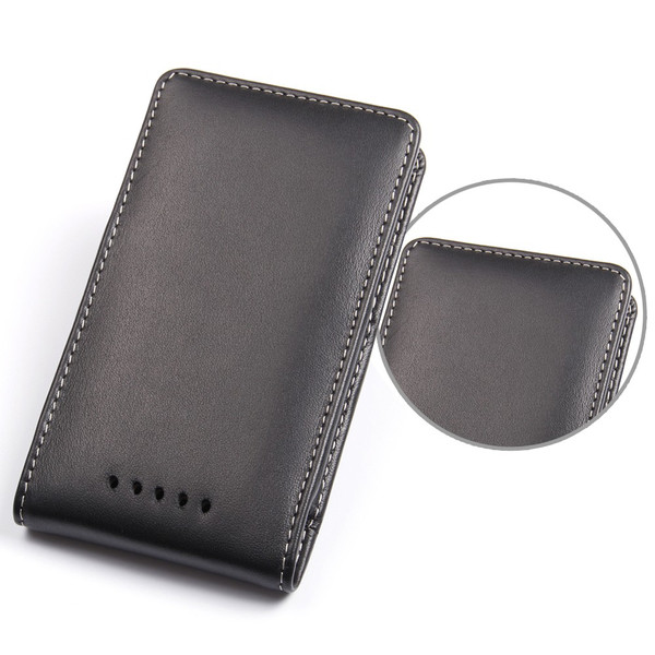 PDair Black Leather Vertical Pouch for Nokia Lumia 925