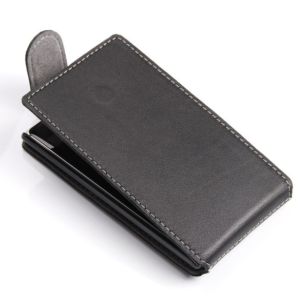 PDair Black Leather Ultra Thin FlipTop-Style Case for Nokia Lumia 925