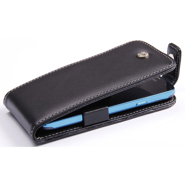 PDair Black Leather FlipTop-Style Case for Samsung Galaxy S4 Active