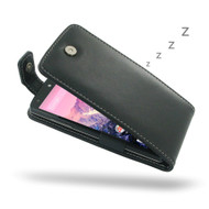 PDair Black Leather FlipTop-Style Case for Google Nexus 5