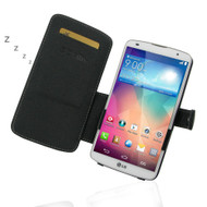 PDair Black Leather Book-Style Case for LG G Pro 2