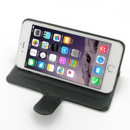 PDair Black Leather Book-Stand Case for Apple iPhone 6 Plus / 6S Plus