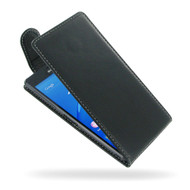PDair Black Leather FlipTop-Style Case for Sony Xperia Z3