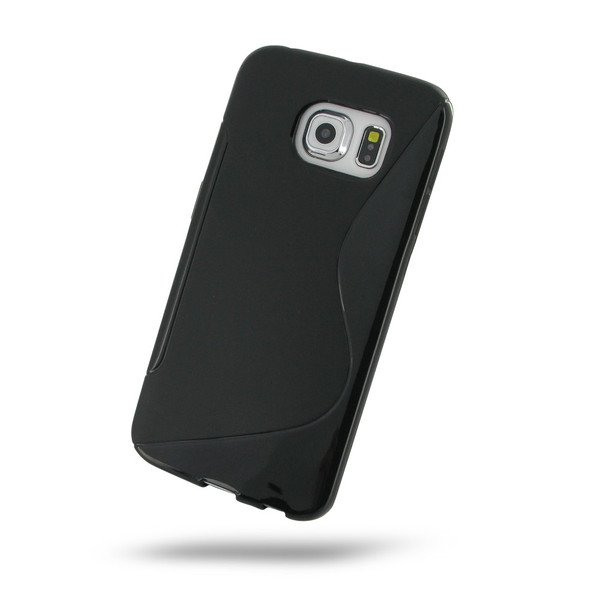 PDair Black Soft Plastic Case for Samsung Galaxy S6 Edge