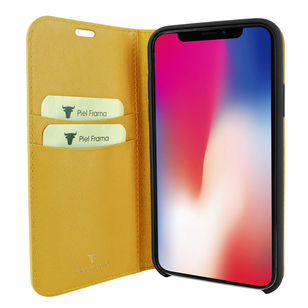 Piel Frama 836 Yellow FramaSlimCards Leather Case for Apple iPhone 11 Pro Max