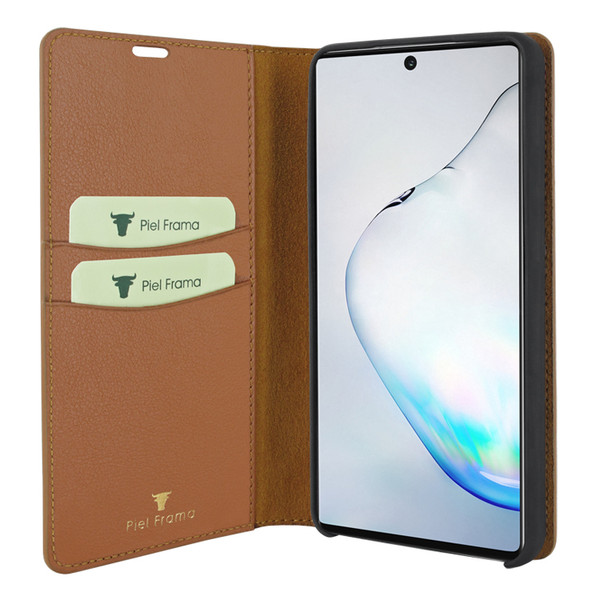 Piel Frama 830 Tan FramaSlimCards Leather Case for Samsung Galaxy Note 10 Plus