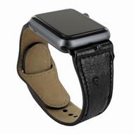Piel Frama 732 Black Ostrich Leather Strap for Apple Watch (38mm)