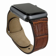 Piel Frama 733 Brown Crocodile Leather Strap for Apple Watch (42-44mm)