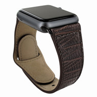 Piel Frama 733 Brown Lizard Leather Strap for Apple Watch (42-44mm)