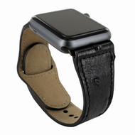 Piel Frama 733 Black Ostrich Leather Strap for Apple Watch (42-44mm)