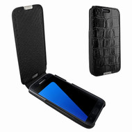Piel Frama 739 Black Crocodile iMagnum Leather Case for Samsung Galaxy S7