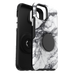Otterbox - Otter  Pop Symmetry Case With Popsockets Swappable Popgrip for Apple iPhone 11 Pro - White Marble