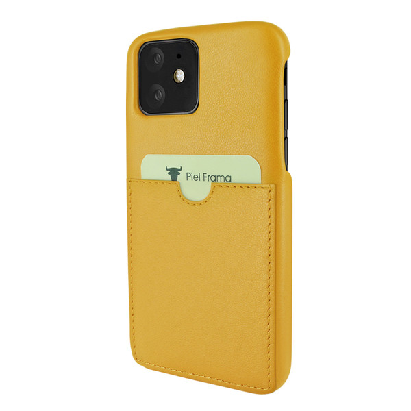 Piel Frama 838 Yellow FramaSlimGrip Leather Case for Apple iPhone 11