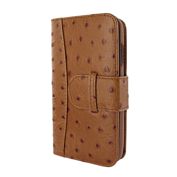 Piel Frama 840 Tan Ostrich WalletMagnum Leather Case for Apple iPhone 11 Pro