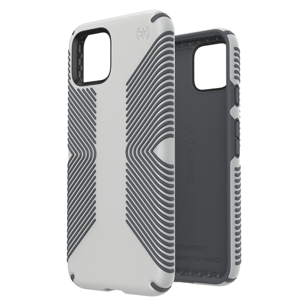 Speck - Presidio Grip Case for Google Pixel 4 - Marble Grey and Anthracite Grey