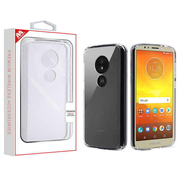 Moto E5 Play Highly Transparent Clear/Transparent Clear Sturdy Gummy Cover (with Package)
