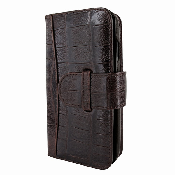 Piel Frama 840 Brown Wild Crocodile WalletMagnum Leather Case for Apple iPhone 11 Pro