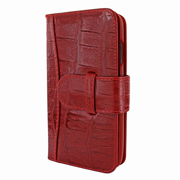 Piel Frama 840 Red Wild Crocodile WalletMagnum Leather Case for Apple iPhone 11 Pro