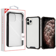 iPhone 11 Pro Max Highly Transparent Clear/Natural Black Sturdy Gummy Cover (with Package)