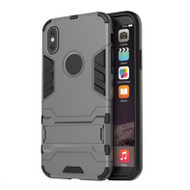PDair Apple iPhone X | iPhone 10 Tough Armor Protective Case (Grey)