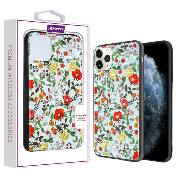iPhone 11 Pro Pastoral Floral Hybrid Case (with Diamonds)(with Package)