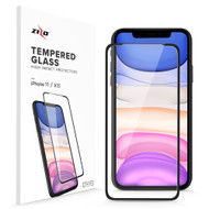 ZIZO Full Glue Glass Compatible with iPhone XR / iPhone 11 Tempered Glass Screen Protector 0.33mm 9H Hardness 1GLSHD-IPHXR-BLK