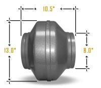 """Vortex Fan 8"""" Inline Powerfan"""